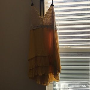 Dresses & Skirts - Yellow and lace dress
